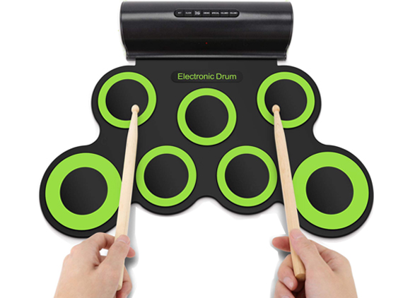7 Pads Portable Electronic Drum Set Built-in Speakers