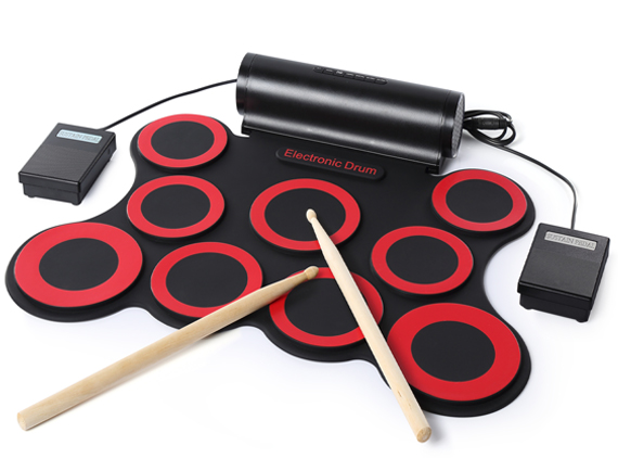 9 Pads Rechageable Battery Portable Electronic Drum Set