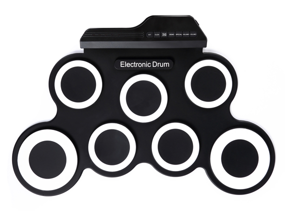 7 Pads Portable Electronic Drum Set Without Built-in Speaker