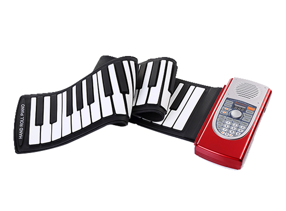 61 Key Roll Up Piano with Speaker Battery Operated